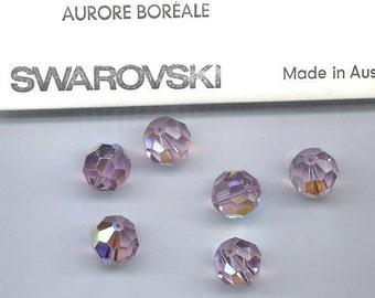 Light Amethyst AB 5000 - 4mm, 5mm, 6mm, 8mm - Swarovski Crystal Round Bead (12-72 pcs)