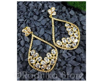 Crystal Cluster Teardrop - Bollywood Collection