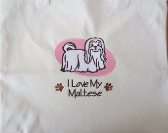 Personalized I love my Dog Tote Choose your BREED and Design