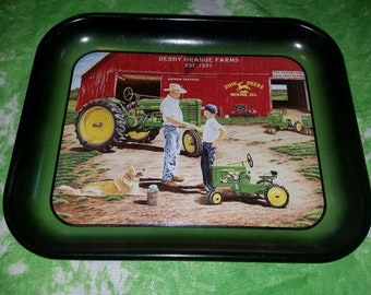 John Deere First Tractor Metal Tray Made in USA