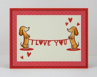 Dachshund Love Card, Dachshund Anniversary Card, Dachshund Card, Dog Card