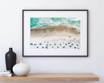 Coastal Decor, Contemporary Beach Wall Art, Beach Photography, Coastal Photography, Large Ocean Print, Printable Beach Art, Beach wall decor