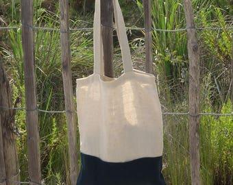"""Tote bag hemp Made in France - model """"Lola"""""""