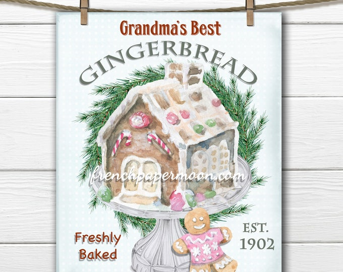 Shabby Xmas Digital, Gingerbread house collage sheet, Pastel colors, Holiday Graphic, Xmas, Holiday Crafts, DIY Christmas