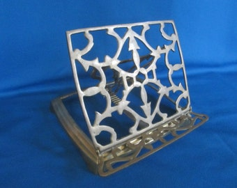 Vintage Standing Adjustable Brass Book Display Stand