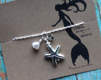 Mermaid Starfish Necklace by Olive*, Open Minds ~ Mermaid, Fairy Magic, Handcrafted