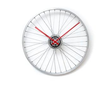 Bicycle Wheel Clock, Large Metal Clock, Bike Clock, Unique Wall Clock, Large Wall Clock, Oversized Wall Clock, Industrial Clock, Unique Gift