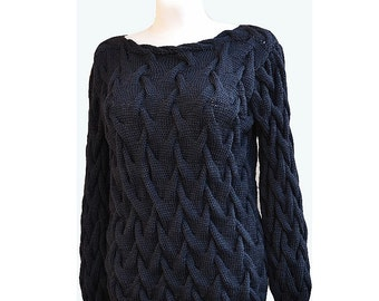 Knitted sweater-tunic made to order, handmade