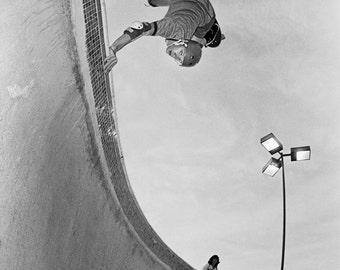 Owen Nieder Del Mar Skateboarding Photograph - 18 x 24 Inch Eighties Skateboard Photograph - Owen Nieder Skateboard Print
