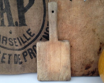 Board to beat the linens in wood/plank washerwoman. Vintage early twentieth century