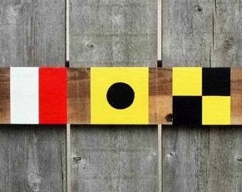 Custom, personalized nautical flag sign
