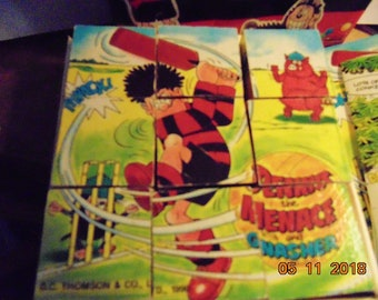 Dennis the Menace and Gnasher Picture Puzzle Blocks