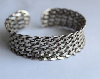 Sterling silver Weaved Bracelet -