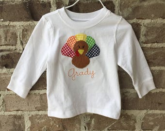 Toddler Turkey Applique Shirt