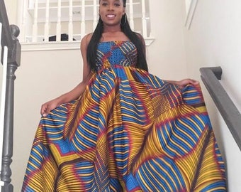 Sarah African dress, African Print dress, Maxi dress, African maxi dress,  African clothing, Ankara dress, African fashion, Prom dress