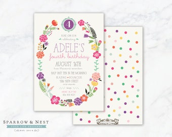 Cheerful Garden Invitation