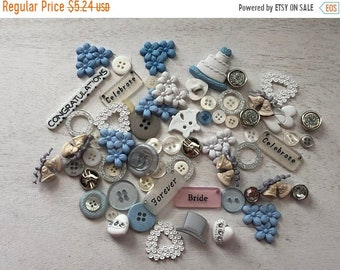 "SALE Wedding Buttons, Novelty Buttons Assortment Package, ""Wedding"" Style VP321, by Buttons Galore, Sew On, Flat Backs and Shank Back Assort"