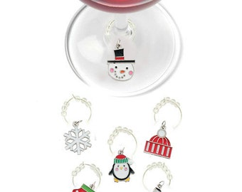 Christmas Wine Charms - Winter Wonderland 6 pack