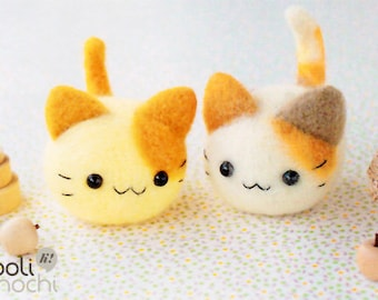 Twin Kittens Needle Felting Kit