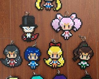 Sailor Moon Perler Keychains
