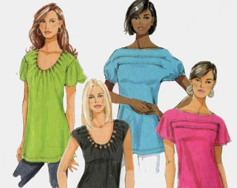 OOP Misses Easy Tuck Top Blouse Shirt Sewing Pattern Butterick B5327 Plus Size 16-26 Bust 38-48 UNCUT/Ff