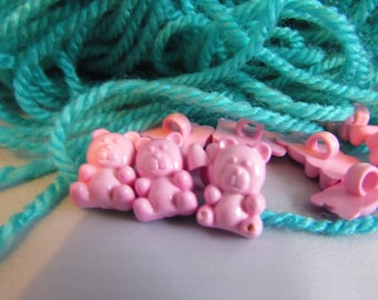 Baby Pink Teddy Bear Buttons