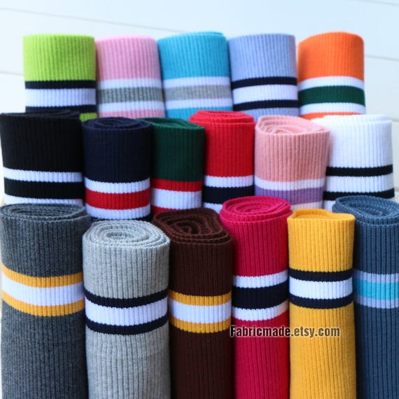 19 Colors Stripes Ribbing 15cm X 80cm Ribbing And Binding