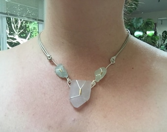 Seafoam green & lavender UV seaglass