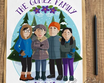 Digital Customized Family Portrait Whole Body