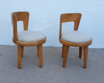Heywood - Wakefield  Swivel Accent Chairs A Pair.