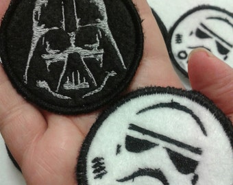Darth Vader and Storm Trooper Patches