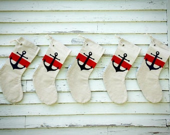 Maine Christmas Stocking..Holiday stocking.nautical stockings. Anchor holiday decoration. personalized stocking.Christmas stockings 40