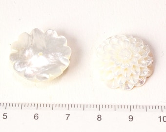 white shell cameo half drilled caboction/G-0098
