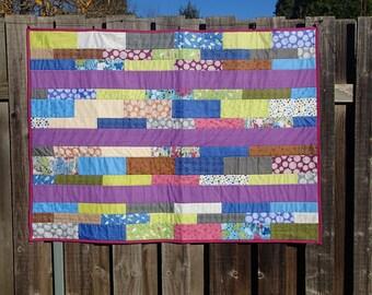 English garden inspired lap quilt