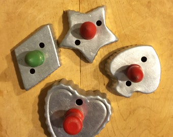 Vintage Cookie Cutters with wooden handles