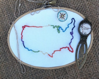 CUSTOM Order Country Embroidery: Choose your Favorite Country