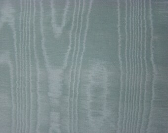 Vintage Sage Green Moire  - Decorator Fabric by the yard - 36 inches x 48 inches