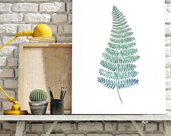 Fern / Bracken Watercolour Giclee Print