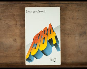 George Orwell 1984 Collection Folio Gallimard, 1992, French vintage