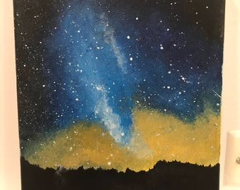 Milky Way Hand Made Acrylic Painting
