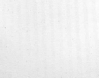 Heavyweight White Herringbone 100% Cotton Coutil Corsetry Fabric-By-The-Yard