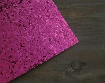 Glitter Fabric Material Dark Pink 8X10 sheet