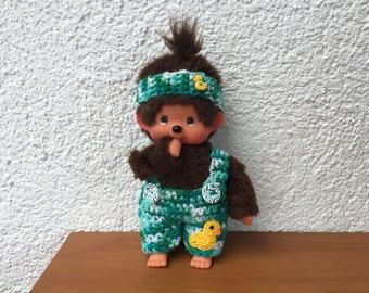 "Monchichi trousers and headband ""Duckling"" for Monchichi 20cm"