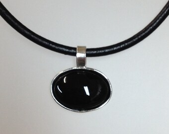 Small Black Onyx Pendant