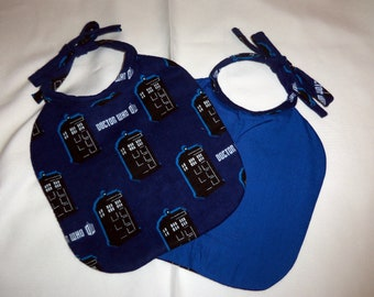 T.A.R.D.I.S. licensed fabric Adjustable Reversible baby bib