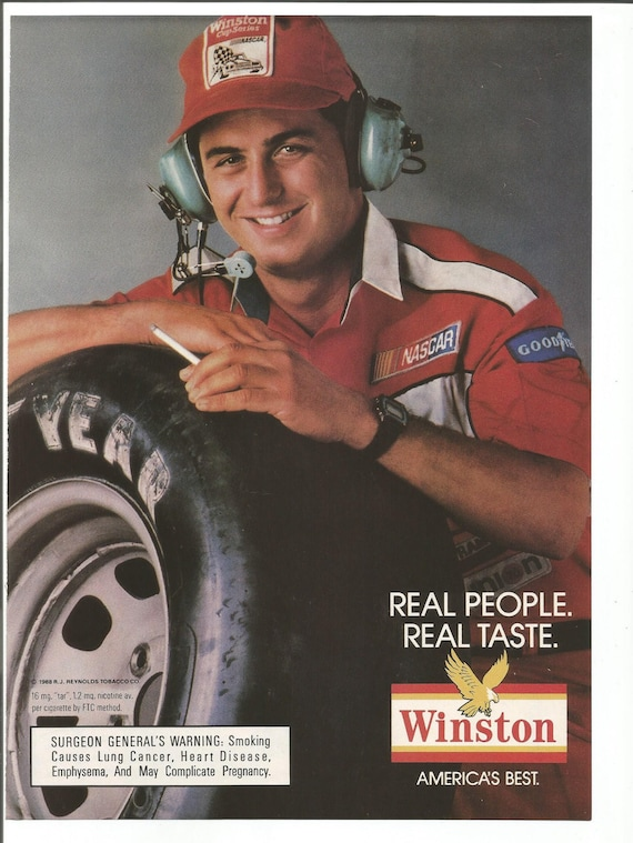 1988 Advertisement Winston Cigarettes 80s Real People Pit Crew