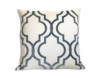 """20"""" Linen and Velvet Pillow Cover"""
