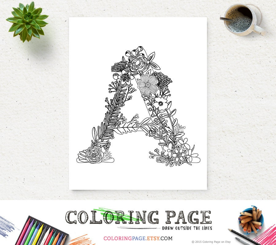 zoom - Letter Coloring Pages For Adults