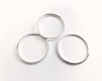 10 spacer rings 40mm silver jewelry designs