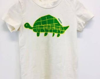 "Children's Organic Cotton ""Turtle"" Tee Shirt & Pants Set, Kids Play Wear, Outfit for Baby"